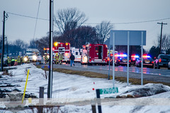 C-K Fire - C-K Police - C-K O.P.P. - St. Clair Rd. & Heritage Line MVC, 01/11/2014 (Front Page Photography / Hooks & Halligans) Tags: road rescue 3 ontario canada heritage fire 1 kent jan crash accident stclair 4 january engine saturday police 11 line pump chatham vehicle hh s