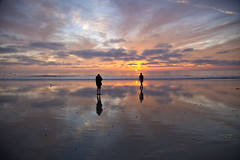 Carlsbad Sunset (Stephen P. Johnson) Tags: california sunset reflection water events places carlsbad 201401040096