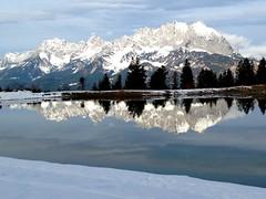 Austrian dreams (TwoCrabs) Tags: snow mountains reflection reflections austria skiing mountainlake stjohann sanktjohann stjohannintirol
