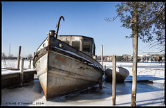 Frozen Hull (scottnj) Tags: abandoned ice boat frozen nj explore fishingboat sunkenboat tomsriver explored scottnj scottodonnellphotography