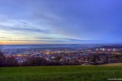 Blaue Stunde Reutlingen (MSPhotography-Art) Tags: winter sunset germany landscape sonnenuntergang natur citylights bluehour landschaft städte abendstimmung blauestunde reutlingen