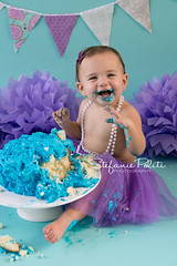 Aubrie (njmommyof3boys) Tags: birthday baby girl cake one smash aqua purple teal flag banner pearls happybirthday firstbirthday tutu cakesmash