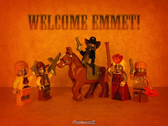 LEGO THE MOVIE 70800 Welcome Emmet! (COLLECTOR FIGURES) Tags: movie robot lego getaway robots western sheriff welcome cyborg glider et cyborgs minifigure the emmet minifigures 70800 shrif deputron