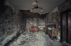 nightmare living room ([AndreasS]) Tags: old trip red urban house building history abandoned home lamp corner dark lost photography scary europe tour sad place emotion furniture decay interior exploring neglected away places eerie historic creepy hidden sofa forgotten mind trespass mission inside times nightmare exploration derelict decayed decaying dereliction trespassing ue urbex bygning sted derlict forlatt steder glemt photoexploring forlatte uexplorer norue mrnorue forfallsestetikk