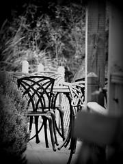(ShelleyCorinne) Tags: blackandwhite bw chairs olympus ventnor isleofwight olympuspen manualfocus iow micro43 olympusepl1