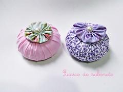 Mais sabonetinhos (ღ By Ane Santos ღ) Tags: soap artesanato fuxico sabonete