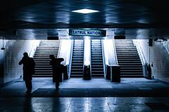 Teatrul National (in explore) (Michael Erhardsson) Tags: bw underground metro romania bukarest monokrom svartvitt rumnien teatrulnational grskala