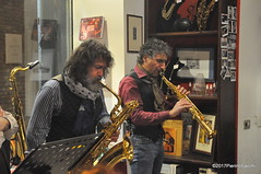 N2122874 (pierino sacchi) Tags: kammerspiel brunocerutti feliceclemente igorpoletti improvvisata jazz letture libreriacardano musica sassofono sax stranoduo