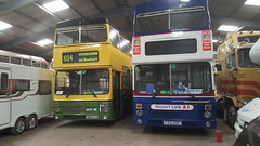 Sisters meet for the first time... (WMT6832TWM3053) Tags: westmidlandstravel wmt travelwestmidlands travelcoventry wolverhampton coventry wmbuses preservedbus 3053 f53xof e989vuk mcw metrobus mk2a wmpte