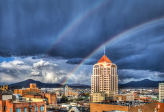 Lucky Spring Double Rainbow Roanoke (Terry Aldhizer) Tags: lucky spring rainbow roanoke city buildings hotel wells fargo catholic saint andrews higher education center weather terry aldhizer