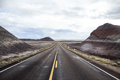 highway through time (Michael Kenan) Tags: petrified forest northern arizona az painted desert highway landscape rainy storm clouds weather