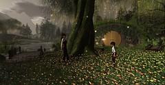 hobbiton_001 (Mordred Avindar) Tags: hobbiton shire hobbithouse boy child elf woman garden flowers pond river sauron theeye lotr middle earth
