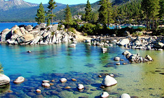 Clear Waters, Sand Harbor, Lake Tahoe, NV 9-10 (inkknife_2000 (7.5 million views +)) Tags: laketahoe nevada sandharbor dgrahamphoto lakeshoreline mountainlake rocksinwater forest alpinelake usa landscape rockpiles clearwatercleanwater