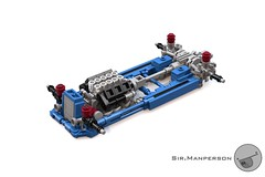 Show Stopper Rod just chassis  - 10-wide - Lego (Sir.Manperson) Tags: lego hot rod lfa engine chassis ldd render yee