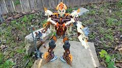 Bionicle M.O.C. - Warrior Mech Prototype (Makuta Alvarez) Tags: bionicle moc mocs lego makuta alvarez warrior machine mech battle gear mace shield brown orange rock tan robot prototype