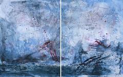 HOHE SEE, 2017 (Marie Kappweiler) Tags: peintures paintings malerie art kunst künstler künstlerin kappweiler acryl mer seahigh see hautemer hohersee wal fisch whale baleine structure textur wachs cire wax