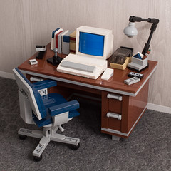 My Old Desktop: Pal Edition (powerpig) Tags: lego powerpig 80s retro desk computer