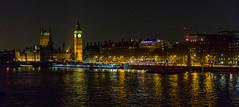 Westminster (trevorhicks) Tags: london westminster big ben clock tower river thames water night lights sky dark tamron canon d