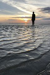 Another Place by Anthony Gormley (Steven Vacher) Tags: sunset beach sea anthonygormley anotherplace iphone