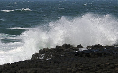 Rough day at the Giant's Causeway. (Dave Russell (700k views)) Tags: giant giants causeway northern ireland sea ocean water coast coastal seascape landscape view vista outdoor travel rough windy weather shore basalt column volcanic legend myth