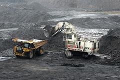Terex/O&K RH 120E - Caterpillar 777G (Falippo) Tags: escavatore excavator bagger digger mining mine coal occs towercolliery hargreaves terex orensteinkoppel rh120 shovel caterpillar cat dumper 777g wales plant ok tripower