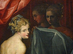 DUBREUIL Toussaint (et Atelier),1594-1602 - Hyante et Climène à leur Toilette (Louvre) - Detail 033 (L'art au présent) Tags: art painter peintre details détail détails detalles painting paintings peinture peintures 16th 16e peinture16e 16thcenturypaintings 16thcentury detailsofpainting detailsofpaintings tableaux peinturefrançaise frenchpaintings louvre paris france museum toussaintdubreuil toussaint dubreuil wash miroir mirror hair longhair cheveux cheveuxlongs servante servant handmaid room bedroom chambre bed lit figures people nakedwoman nakedwomen femmenue nuféminin nudity nudité bare nude femme woman women young jeunesfemmes amphore amphora rideaux fenêtre windows curtains