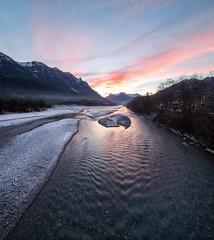 Sonnenuntergang über der Lech-9490 Shift-Panorama (Holger Losekann) Tags: instagram gemeindeweisenbachamlech tirol österreich at