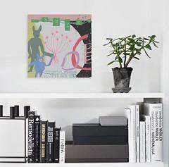 "#1470 ""Friends"" (sariart2) Tags: digital collage mixed media painting bunny rabbit blue pig piglet contemporary modern art sari azaaria noy"