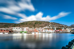 Meeting the spring in Bergen, Hordaland, Norway (Maria_Globetrotter) Tags: dscf7431lr 2 long exposure moving clouds norway norge day cloudy bryggen världsarv unesco world heritage site