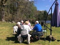 Easter Monday lunch outside by the lake.