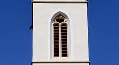 Geometrie svizzere (fabrizioboni00) Tags: chiesa church swiss switzerland svizzera campanile cuore blu sky cielo dettagli details 50mm sigma canon canon6d sigmaart