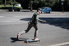 Man on the skate - Rome april 2017 (STANDARDBLANC.COM) Tags: rome colour nikon d3200 50mm f14 ais manual skateboard green energy pizza politic standarblanccom