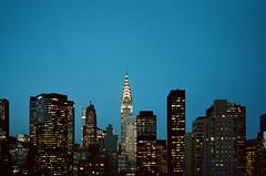 Sweet Night. (Julien Prénat) Tags: landmarks landmark sky skyscraper chryslerbuilding building chrysler manhattan us night usa analog analogphotography bk contax contaxt2 film filmphotography ny nyc street streetphotography unitedstates