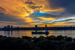 Hudson river sunset (ravalli1) Tags: manhattan hudson river sunset newyork boat water sky westside