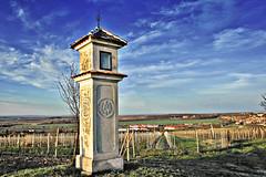 07b Bildstock (calvaire) de Valtice / Wayside shrine of Valtice / boží muka u Valtic (HDR) (jirichodil) Tags: czphoto czech moravie valtice hdr colorsinourworld