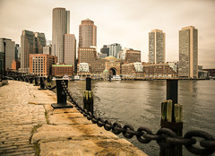 ~Fan Pier~ (cheryl c.) Tags: fanpier bostonmass cloudyday closetohome adventurethusday meandhim intown skyline outdoors waterfront harbor explored 327 throughherlens