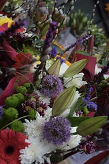 Bunch of Flowers (jammie_jamie) Tags: flowers dublin bunch market yellow green lily agapanthus purple white red