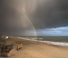 Quick a Rainbow (Dropping light photography) Tags: rainbow beach south coast water hail storm dorset boscombe nikon d750
