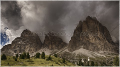 "Time To Thunderstorm (""Max Deca"") Tags: mountains thunderstorm weather mountaineering danger cableway climatechange nature landscape summer clouds outdoor vacations afternoon langkofel dolomite cloudsstormssunsetssunrises"