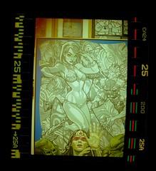 Dans la jungle (acelobb) Tags: sprockets acelobb argentique analog art color couleur pop popart film pellicule woman drawing painting 35mm scan retro experiment