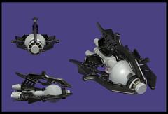 The Diabolique Viel (Karf Oohlu) Tags: lego moc microscale microspacetopia spaceship scifi