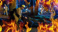 Fire in the hole (2 of 2).jpg (___INFINITY___) Tags: 6d aberdeen godoxad360 canon darrenwright dazza1040 eos fire fireman flash gel infinity light me night scotland selfie selfy strobist yn560