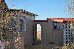 In Between Charming (RootsRunDeep) Tags: home house old abandoned decay door mountains rural wyoming oncewashome nikon prairie desolate