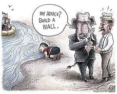 Refugee migrants (allyzuke) Tags: refugee migrants immigration syria drownedboy mediterranean sea crisis mexico us gop republicans wall greece turkey middleeast europe eu