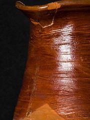 Not So Little Brown Jug! (DeePee64) Tags: macro macromondays glaze pottery jug handthrownjug brownjug nostalgic