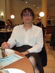 Breakfast (Marie-Christine.TV) Tags: feminine transvestite lady mariechristine businesslady skirtsuit tgirl tgurl secretary sekretärin geschäftsfrau kostüm