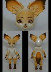 Dollpamm Fox (konakona135) Tags: bjd abjd balljointeddoll faceup kona135designs commission custom doll dollpamm fox anthro body blushing