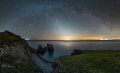 A R C H E D - L I G H T (elganjones1) Tags: night sky zodical zodiac light milkyway astrophotography sony a7s irix15mm irix 15mm lowlight seascape astronomy apod ngc