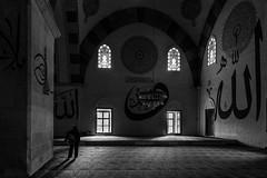 find your peace / the canvas of life (Özgür Gürgey) Tags: 2017 24120mm bw d750 edirne nikon ulucami architecture shadow solitude writing turkey