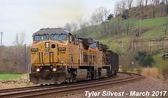 UP 6659 Leads EB Coal Drag Bonner Springs, KS 3-31-17 (KansasScanner) Tags: up unionpacific railroad train bonnersprings kansas